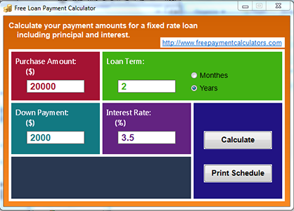 free loan payment calculator