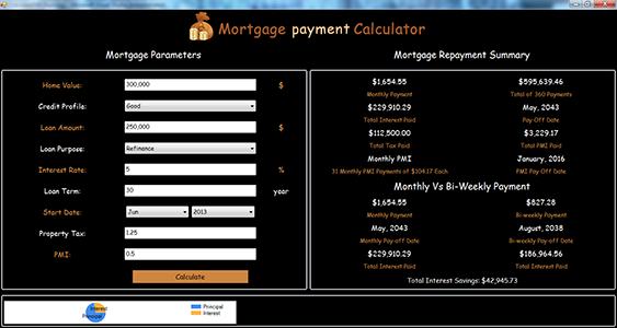mortgage payment calculator version 100